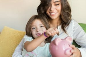 Mother Daughter Piggy Bank