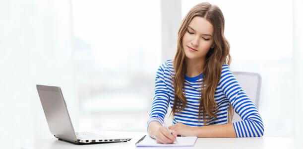 Woman Writing a List