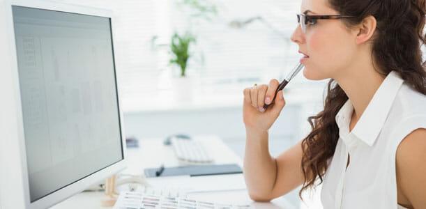 Woman Computer Setting Goals